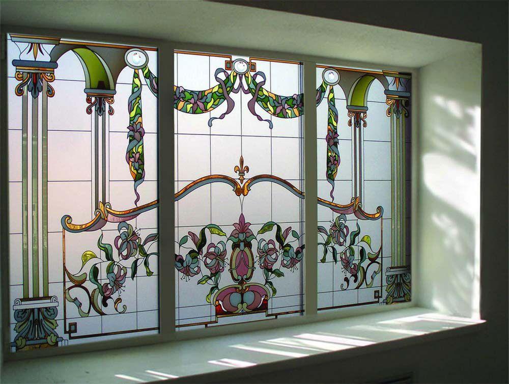 Витражное окно в Английском стиле